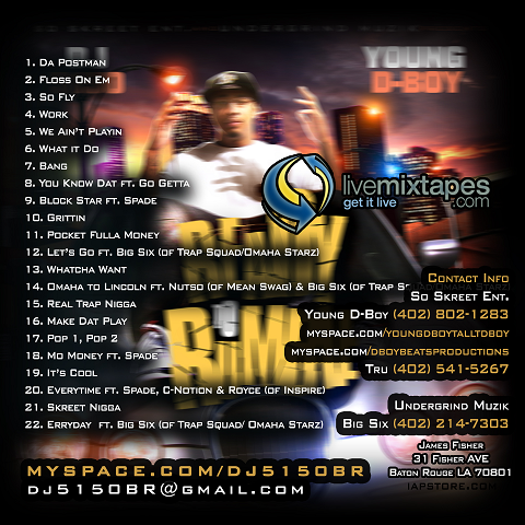 Young D-Boy Ready To Rumble Back Cover