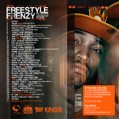 Yung Tone Freestyle Frenzy Mixtape Back Cover