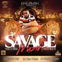 King Pimpin - Savage Muzik (Hosted By Project Pat) mixtape cover art