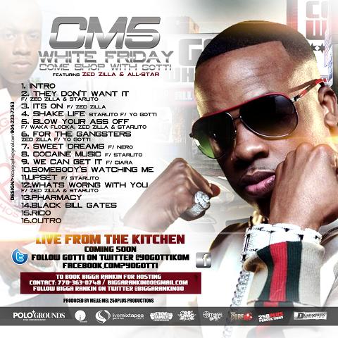 Bigga Rankin & Yo Gotti - CM5 Mixtape Back Cover