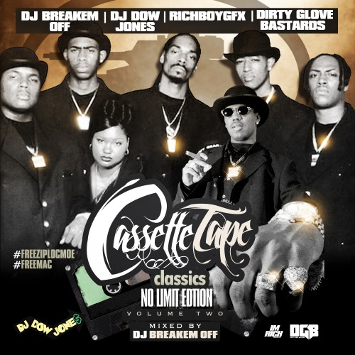 DJ Breakem Off, DJ Dow Jones, Dirty Glove Bastard  ›  Cassette Tape Classics 2 (No Limit Edition) New with FREE Download 100+ tracks