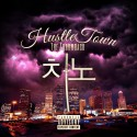 Hustle Town: Throwback mixtape cover art
