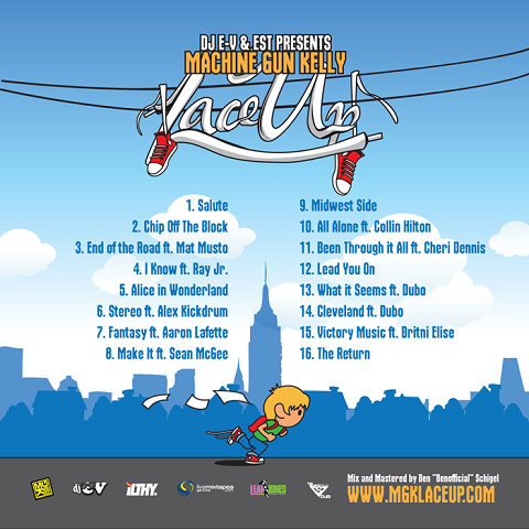 Machine Gun Kelley - Lace Up Mixtape Back Cover