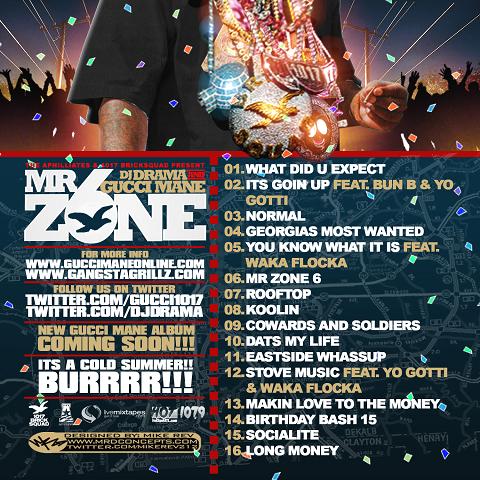 DJ Drama Gucci Mane Mr Zone 6 Back Cover