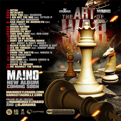 DJ Drama and Maino - The Art Of War Mixtape Back Cover