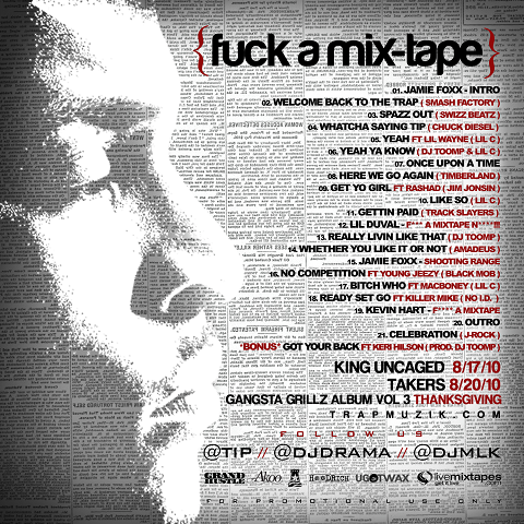 TI - Fuck A Mixtape Back Cover
