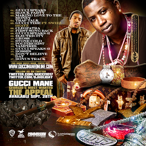 DJ Holiday & Gucci Mane Jewelry Selection Mixtape Back Cover