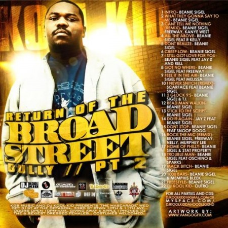 Beanie Sigel - Return Of The Broad Street Bully, Part 2 (DJ Kool Kid)Listen or Download full mixtape free