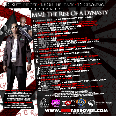 MMI The Rise Of A Dynasty Mixtape Back Cover