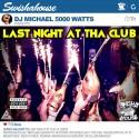 Last Night At Tha Club mixtape cover art