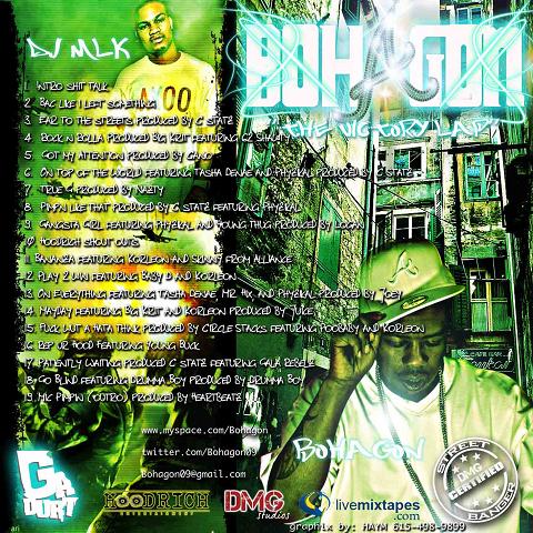 DJ MLK Bohagon The Victory Lap Back Cover