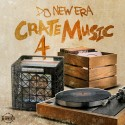 Crate Music 4 (Fitted Cap Low Hip Hop Radio) mixtape cover art