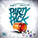 Dame B & Splash Rob - Party Pack mixtape cover art
