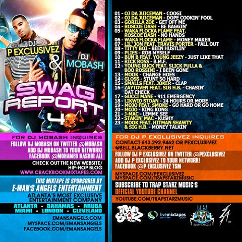 DJ P Exclusivez DJ Mobash Swag Report 4 Back Cover