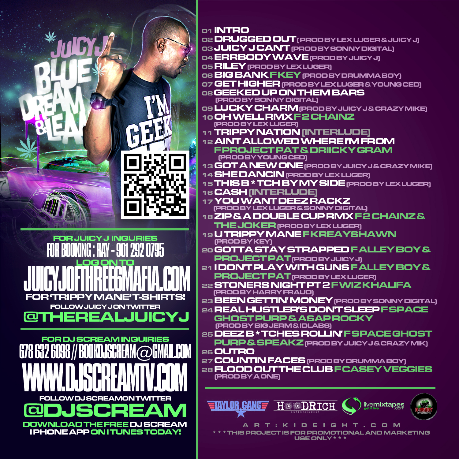 Juicy J Blue Dream Amp Lean Mixtape Hosted By Dj Scream