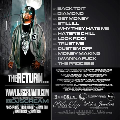 DJ Scream Memphis Bleek The Return Back Cover