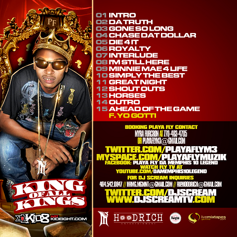 Playa Fly King Of All Kings Back Cover
