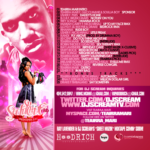 Seductive R&B Valentines 2K10 Mixtape (Hosted By Teairra Mari)