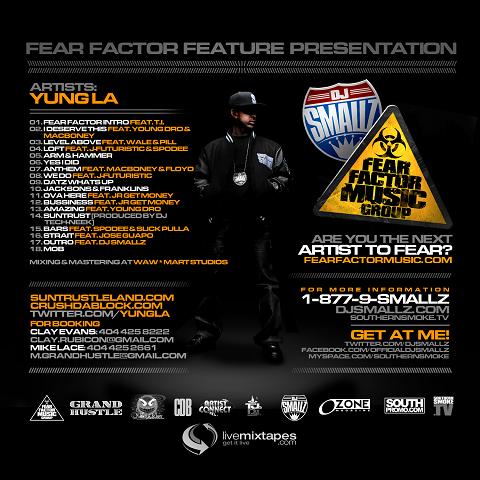 DJ Smallz and Yung LA Suntrust Leland Mixtape Back Cover