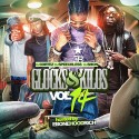 Glocks & Kilos 14 (Hosted By EboneHoodrich) mixtape cover art