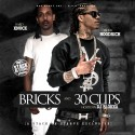 Ebone Hoodrich & HardKnock - Bricks & 30 Clips mixtape cover art