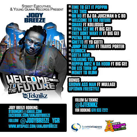 Jody Breeze Welcome To The Future Back Cover