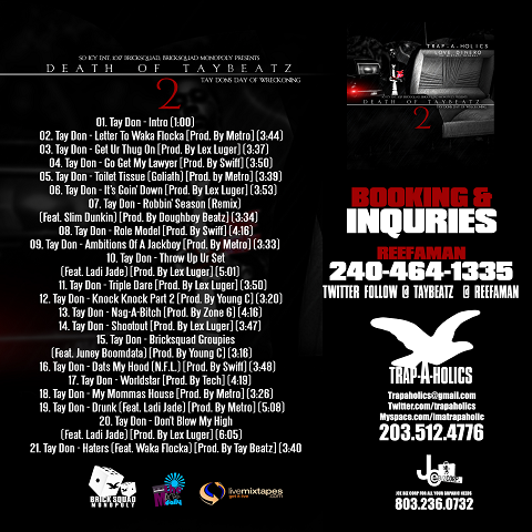 Death Of Tay Beatz 2 Back Cover
