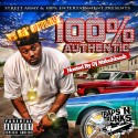TC Da Outlaw - 100% Authentic mixtape cover art
