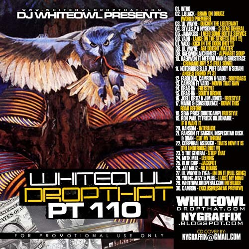DJ Whiteowl - Drop That 110 Mixtape